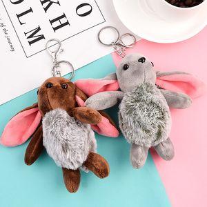 Plush Keychains Toys Stuffed Lion Cat Plush Animals Phone Key Chain Bag Pendant Dolls Toy
