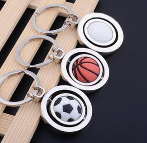 Key Keychain Cup Rotating Gifts Chain World Pendant Basketball Golf Soccer Key Pendant Chain Football whole2019 JBaDi