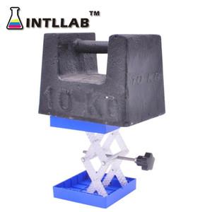 مختبر رفع منصة الوقوف الرف مقص مختبر جاك 100x100mm (4''X 4 '') حسب البلاستيك ومقاومة الفولاذ المقاوم للصدأ