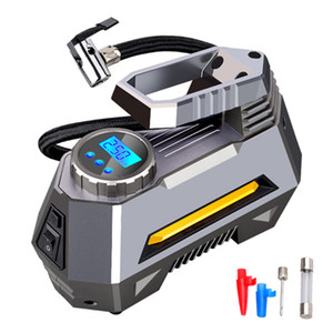 Herramientas de coches portátil de compresor de aire del neumático del - Manómetro de la bomba de neumáticos de coches Con Digital (150 PSI 12V DC) brillante linterna de emergencia