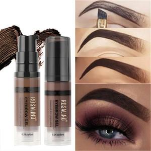 Eyeliner 1PC Plastic Case Waterproof Eyebrow Enhancers Dyeing Gel Sweatproof Long Lasting Brow Tinting Cream Eye Cosmetic Accessory Tools