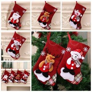 Noel Büyük çorap Kardan Adam Noel Baba Şeker Hediye Çanta Sahipleri Noel Çorap Süsler Noel Süsleri RRA3526 Asma