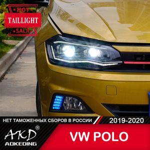 Head Lamp For Car VW new POLO 2019 2020 Headlights Fog Lights Daytime Running DRL H7 LED Bi Xenon Bulb Accessories
