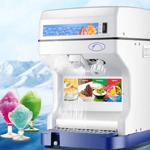 Ezilmiş Buz Süt Shop Ana 220V / 250W Ticari Kırıcı Blender Crusher Of Otomatik Buz Makinesi 120 kg / h Büyük Tutar