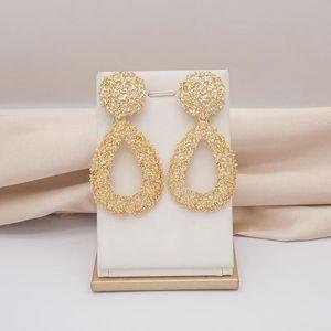 Designer K Store 2020 Newest Fashion Earrings African Jewelry Sets For Women Gold Silver Color Drop Dangle Earings Pendants