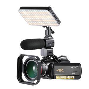 Ordro AC5-Videokamera 4K-Camcorder Full HD-Vlog-Kamera für YouTube-Video-IPS-Touchscreen 12x optischer Zoom-Filmadora
