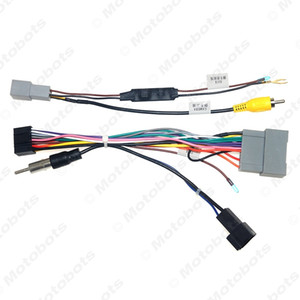Car 16pin Audio Wiring Harness For Honda Crider Jazz Aftermarket Stereo Installation Power Wire Adapter #6639