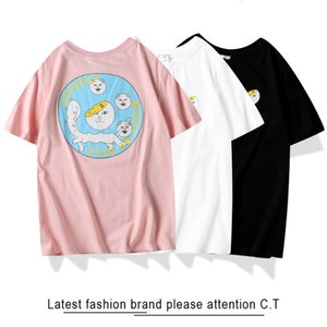Fashion 2020 fashion brand RIPNDIP cheap cat head greedy snake cotton men's and women's round neck short T