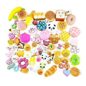 Cgjxs30 Different Styles Kawaii Squishy Rilakkuma Donut Soft Squishies Cute Phone Straps Slow Rising Squishies Jumbo Buns Bag Phone Charms