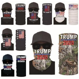 Maschere Trump elezioni americane di stampa Turbante Magia Suncreen Fazzoletto Copricapo Dustpoof Scarve esterna lavabile riutilizzabile Maschera DHD678