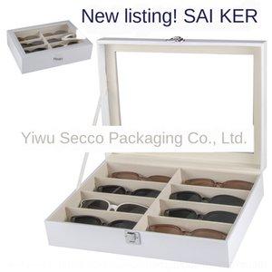 [Standard Edition] White 8-bit Sun Storage sol Mostrar Box 8 Visor óculos óculos de sol caixa de coleta de armazenamento ROCO2