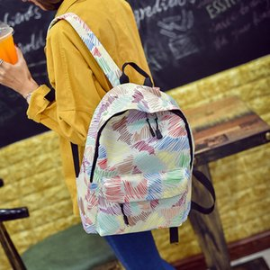 One Pu Student Students Korean-Style School Casual Backpack School High Student Female Schoolbag Spray-Print Schoolbag Backpack Middle Cbtk