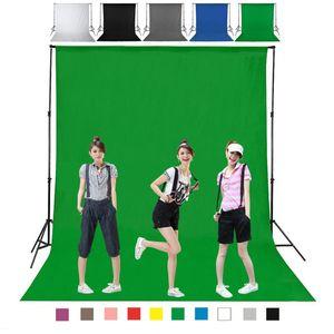DIY 1M 2M 3M 4M التصوير ستوديو خلفية شاشة خلفية متينة غير المنسوجة أسود أبيض أخضر رمادي اللون الأزرق للخيار