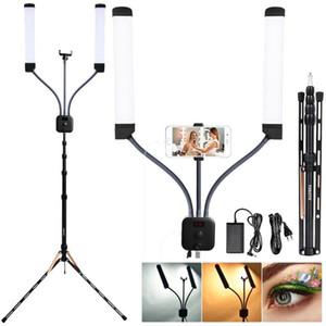 La lámpara de luz fosoto FT-450 Multimedia Extreme con selfie función de iluminación fotográfica de vídeo LED con el trípode para maquillaje Youtube
