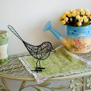 Estatueta animal Ferro Figurines Pássaro abstrato Pássaro Miniatures Vintage Decoração criativa do presente Souvenirs Room Decor