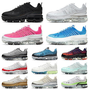 Novos nike air vapormax 360 shoes tênis femininos masculinos Black Iridescent Varsity Royal Triple White University tênis masculinos Red Light Aqua tênis esportivos ao ar livre