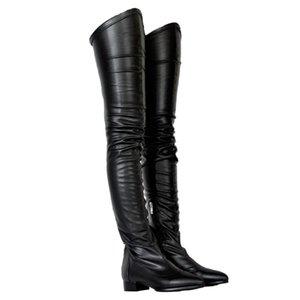 boxZDONE Bayanlar 2019 Yeni Klasik Uyluk yüksek Boots Büyük Beden Kış Uzun Patik Parti Balo Giydirme Akşam Çizme Shoes5ae8 # Isınma ekle