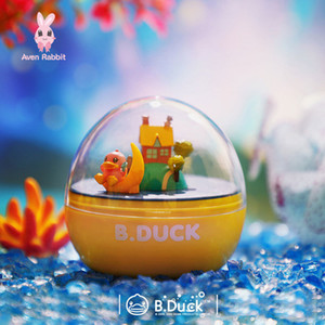 blind box exquisite collection Duck Dream Journey Rotating Little Yellow Duck Music Capsule Cute Gift Desktop Doll Car Decoration Genuine