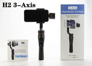 Smartphone Estabilizador H2 3Axis Handheld Gimbal de carregamento USB Video Record Universal direcção ajustável com suporte