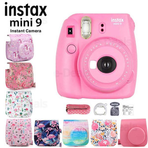 Instax Mini 9 Instant Film Camera Flamingo Pink + Quality Soft PU Leather Carry Case with Shoulder Belt