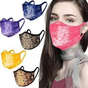 Baumwolltuch Fashion Gesichtsmasken PM2.5 Staubdichtes Masken Waschbar gebatiktem Half Face Mouth Adult atmungsaktive Baumwolle Masken