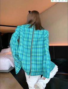 Milan Runway Coats 2020 de manga comprida Painéis Mulheres Coats Designer Coats Marca Estilo Jackets Same 0919-3