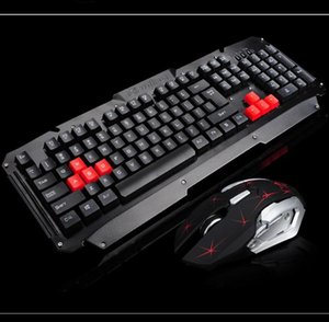 Metal Panel Kablosuz Klavye Mouse Seti 2'nin .4g Kablosuz Klavye Mouse Oyun Seti Toptan Klavye Mouse Combos