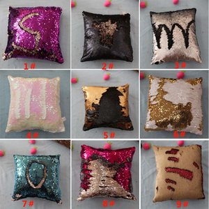 New DIY Sequins Pillow Case Mermaid Pillow Covers Home Sofa Car Decor Cushion 10 Style 40*40cm Gifts WX-P13