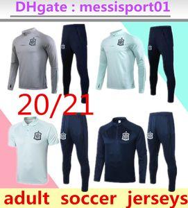 2020 2021 Spanien Fußball Anzug camiseta españa 2020 Morata A.INIESTA RAMOS langen und kurzen Ärmeln Fußball-Trainingsanzug Polo Kit