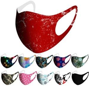 visage masque masques de la mode adulte camo glace soie motif imprimé lavable masque facial ciel noir étoilé firewor dessin animé cool sentiment net masque rouge