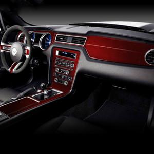 Для Ford Mustang 2009-2013 углеродного волокна автомобиля наклейки Приборная панель Приборная панель обшивки крышки Интерьер Молдинг Декоративные полоски