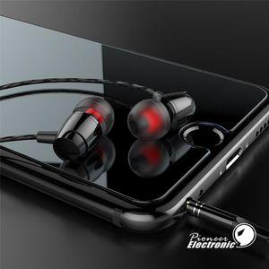 Granel metal de alta calidad alambre Auriculares bajo pesado de juego en el -auriculoterapia Headset 3 .5mm Deportes auriculares para el teléfono móvil MP3, MP4 y Pc Samsung S7 S8