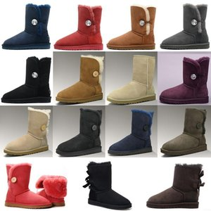 ugg women men kids uggs slippers furry boots slides Australia classici stivali  donne della ragazza del bowtie della caviglia breve caricamento del sistema della pelliccia