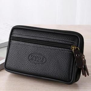 LAppuyez téléphone portable Sac de taille pour les hommes Testificate Sac en cuir Porte-monnaie Bracelet de poche pour portable Pochette ceinture taille Pouch