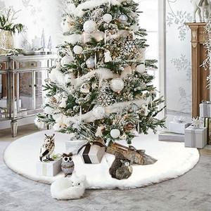1шт Рождественская елка юбка белый ковер Рождественская елка юбка Base Напольный коврик Обложка для украшения дома Новый год