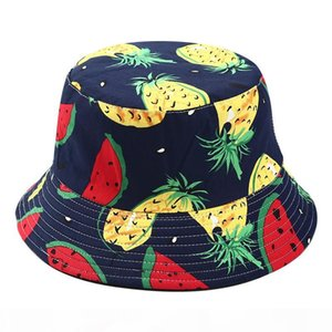 Fisherman Cap Beanie Brazilian Printing Double-sided Wearing Summer Visor Folding Fishing Bucket Hair Jewelry Headwear Hat#45