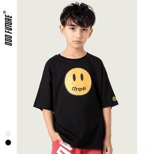 r87qc ODD filles T-shirt à manches courtes pour enfants de doux 99 coton smiley T-shirt Coiffe lettre coiffure visage impression garçons occasionnels de la mode