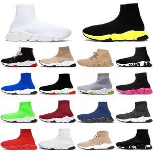 2020 Desinger Speed Trainers Sock Shoes Womens Mens Flat Casual Shoes Tripler étoile Vintage Graffiti 운동화 양말 부츠 디자이너 플랫폼 트레이너