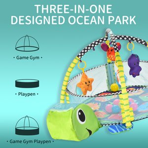 Ocean Boy لعبة طفل في حصيرة السلحفاة لعب 1 دمية والكرة شنقا الدائري اللغز كلاهما 3 فتاة تيرف