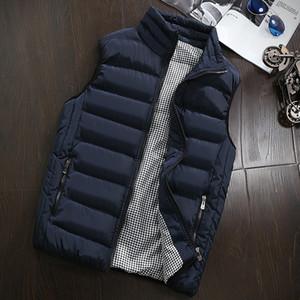 Мужские жилеты зимняя куртка мужская без рукавов жилет мужские мужские хлопковые пальто густые теплые жилетки одежда