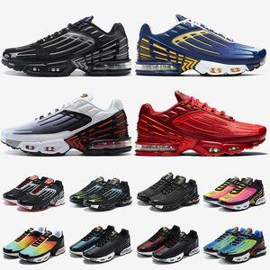 air max tn 3 tn plus 3 tuned erkek bayan koşu ayakkabıları lazer mavi mor gri siyah kırmızı beyaz atletik eğitmenler spor ayakkabısı