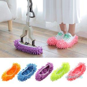 الجملة التطهير الحذاء غطاء متعددة الوظائف الغبار الصلبة الأنظف البيت أحذية حمام الطابق الغلاف تنظيف الممسحة النعال 6 ألوان DBC DH0716