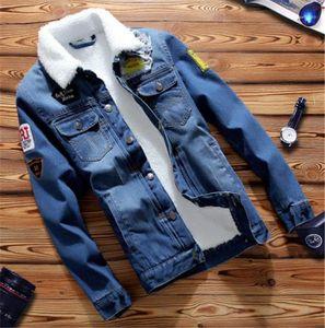 Tasarımcı Jean Ceket Moda İnce Tek Breasted Erkek Jean Ceket Casual Erkek Giyim Epaulet Penelled Mens