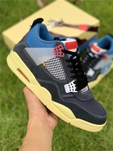 2020 Top Quality Mens Scarpe da basket 4 Sneakers alti Union 4 Mens Shoes Sneakers Sneakers Scarpe Moda calcio Dimensioni 7.5-13 con doppia scatola