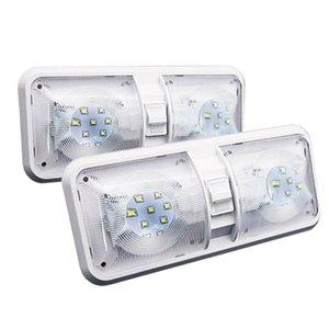 1Pair RV светодиодные 12V 800LM 6000-6500K Потолочный светильник Camper Trailer Marine Double E Light 48 светодиодов