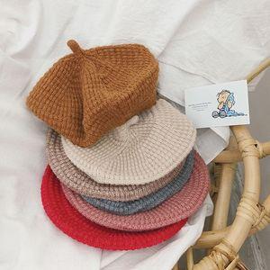3P26M 2020 новый осенне-зимний живописец ребенок детской одежды с износом художником шляпу хлопка шляпой трикотажным хуа цзя мао~d хуа Jia maoChildren в