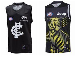 Nueva camisa 2020 2021 Rugby jerseys azules Melbourne AFL camiseta de Liga chaleco 20 21 Rugby Wear