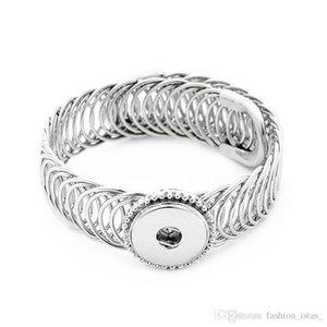 Pulsante Cgjxs 8 stile squisito Noosa Snap Open Type lega misura il braccialetto 18 millimetri Snap Buttons Jewelry misura regolabile schiocco della lega Bracciali