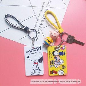 Чарли ID Set Подвеска Key Chain девушка Мультфильм Подвеска Защитная крышка автобус набор карт студент Симпатичные Метро Meal карты Защитная крышка Nic oJsf #