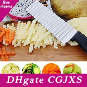 Patata YKC acero inoxidable Hot Chip máquina de cortar la pasta de vegetales de frutas de la arruga ondulada máquina de cortar del cuchillo del cortador de la patata francesa Chopper Fry Fabricante